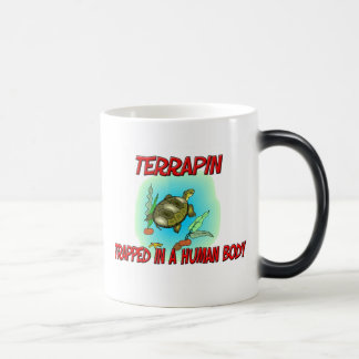 Terrapin trapped in a human body mugs