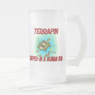 Terrapin trapped in a human body coffee mugs