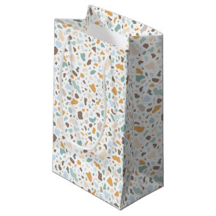 Terrazzo Abstract Pattern Small Gift Bag 521f287266929