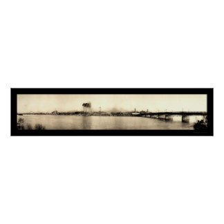 Terre Haute Bridge Photo 1913 Poster