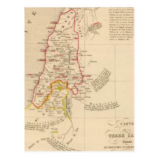 Terre Sainte divisee en royaumes d'Israel Postcard
