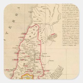 Terre Sainte divisee en royaumes d'Israel Square Sticker