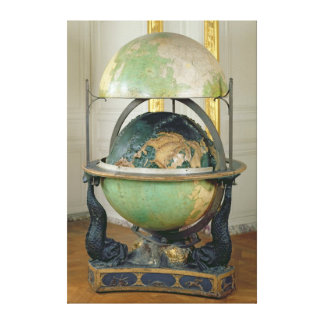 Terrestrial and celestial globe canvas print