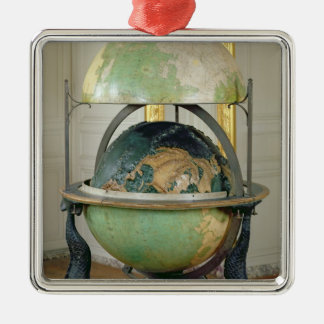 Terrestrial and celestial globe christmas ornament
