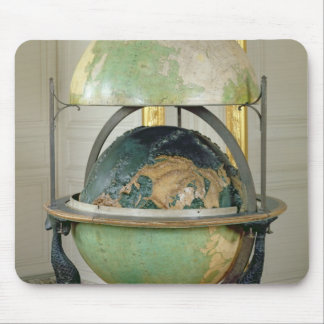 Terrestrial and celestial globe mouse pad