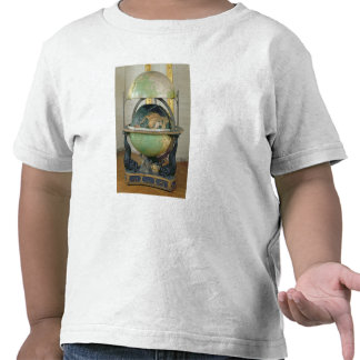 Terrestrial and celestial globe tee shirts