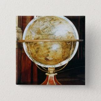 Terrestrial globe, 1688 15 cm square badge