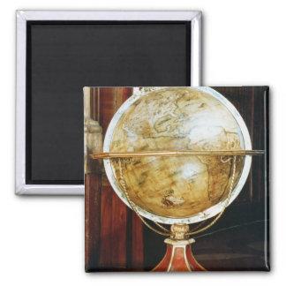 Terrestrial globe, 1688 square magnet