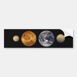 Terrestrial Planet Size Comparison Sticker Bumper Stickers