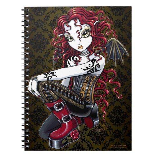 Terri Gothic Tribal Tattoo Red Fairy Notebook