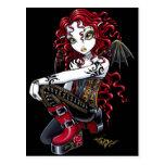 Terri Red Tattooed Faerie Postcard