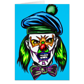 Terrible Evil Clown Stationery Note Card