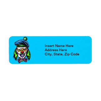 Terrible Evil Clown Return Address Label