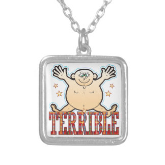 Terrible Fat Man Silver Plated Necklace