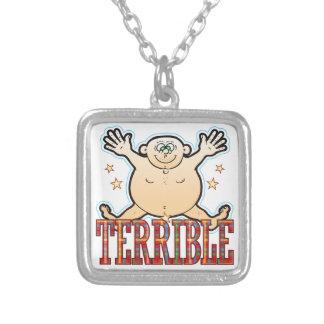 Terrible Fat Man Square Pendant Necklace