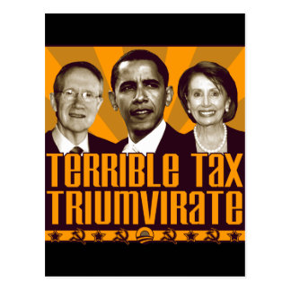 Terrible Tax Triumvirate Post Cards