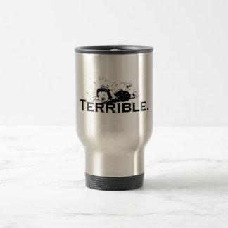 Terrible Temper Tantrum Retro Girl 15 Oz Stainless Steel Travel Mug