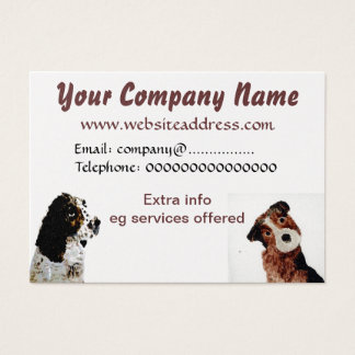 Terrier and Spaniel Dogs Business Card