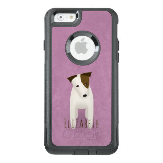 terrier dog jack russell with head tilted OtterBox iPhone 6/6s case
