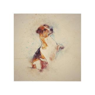 Terrier Dog wood wall panel Wood Print