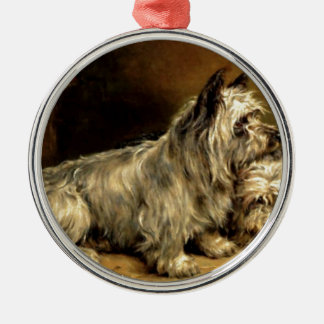Terrier Dogs Pets Antique painting Christmas Tree Ornaments