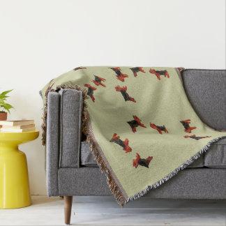 Terrier Fun Dog Art Throw Blanket