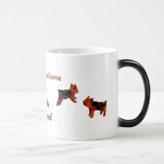 Terrier Fun Dogs are welcome Magic Mug