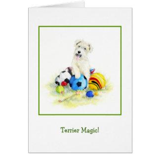 Terrier Magic Greeting Card