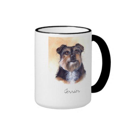 Terrier Painted in Watercolour Coffee Mugs