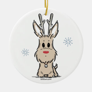 Terrier Reindeer Ornament