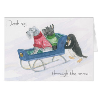 Terrier Sleigh Ride Card