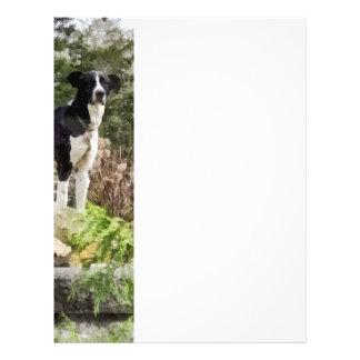 Terrier Standing Guard Flyer Design