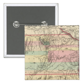 Territories of New Mexico and Utah 15 Cm Square Badge