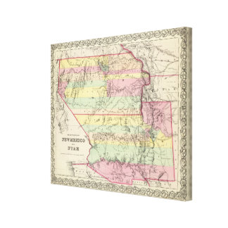 Territories Of New Mexico and Utah Canvas Print