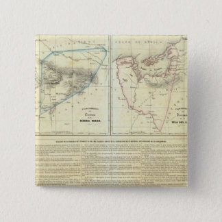 Territorios de Sierragorda e Isla del Carmen 15 Cm Square Badge