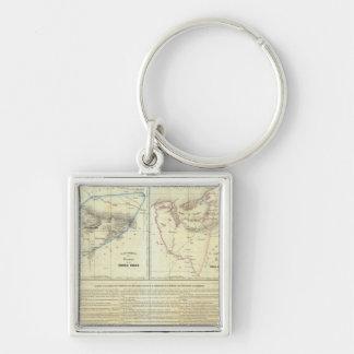 Territorios de Sierragorda e Isla del Carmen Silver-Colored Square Key Ring