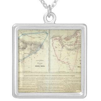 Territorios de Sierragorda e Isla del Carmen Silver Plated Necklace
