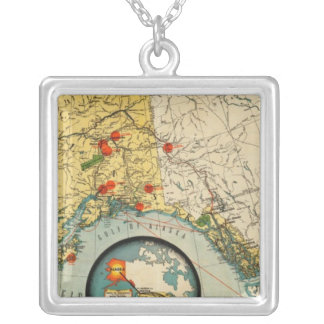 Territory of Alaska Silver Plated Necklace
