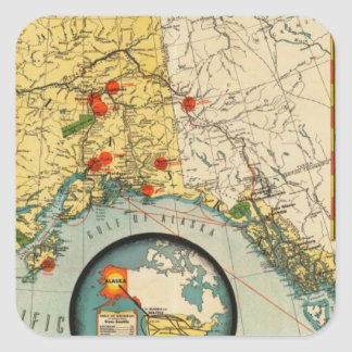 Territory of Alaska Square Sticker
