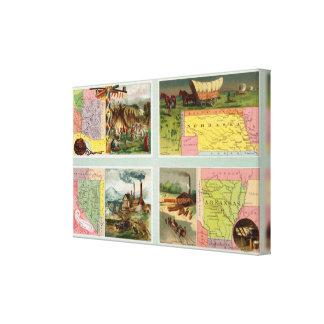 Territory of Arizona, Nebraska, Nevada, Arkansas Gallery Wrap Canvas