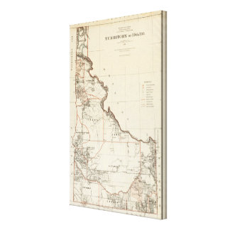 Territory Of Idaho Canvas Print