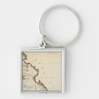 Territory Of Idaho Silver-Colored Square Key Ring