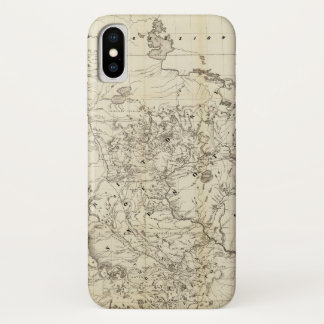 Territory of Minnesota Map (1849) iPhone X Case