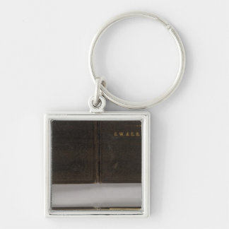 Territory of Montana Silver-Colored Square Key Ring