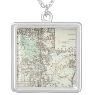 Territory of Utah 2 Silver Plated Necklace