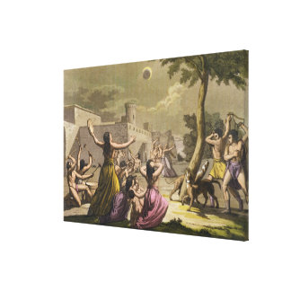 Terror of the Peruvians during an eclipse of the m Stretched Canvas Prints