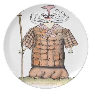 Terrorcatta Army chief fish friar, tony fernandes Plate