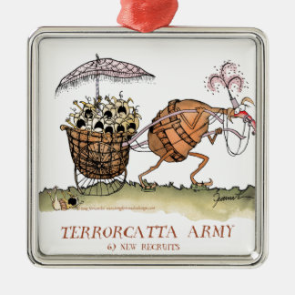 Terrorcatta Army, new recruits, tony fernandes Silver-Colored Square Decoration
