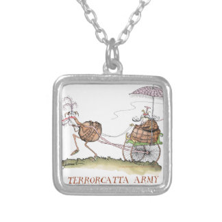 Terrorcatta, silence when talking, tony fernandes silver plated necklace