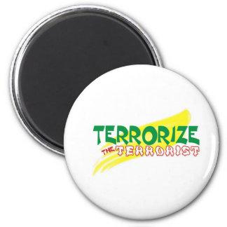 Terrorise  d terrorist 6 cm round magnet